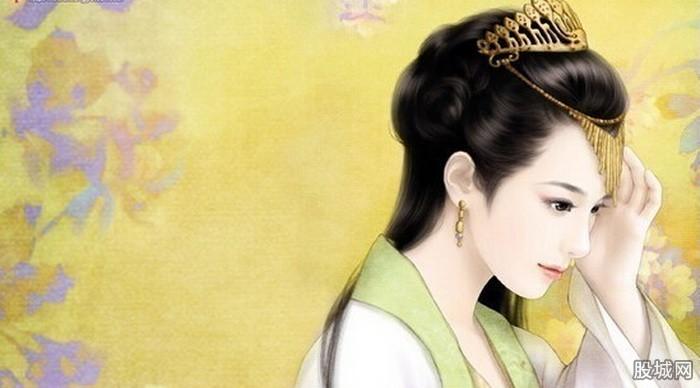 古装宫廷妃子手绘