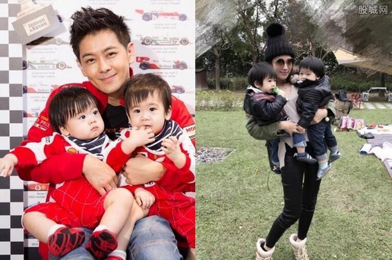 林志颖的双胞胎儿子 呆萌的双宝很是可爱图片
